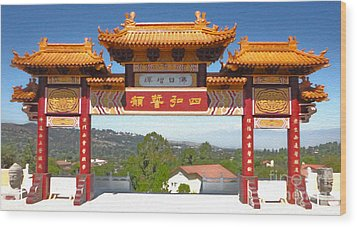 Hsi Lai Temple - 11 Wood Print by Gregory Dyer