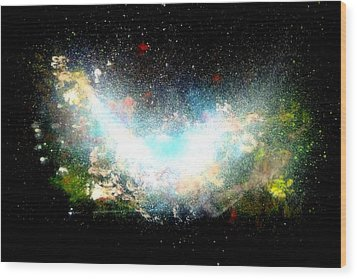 Hubble Birth Of A Galaxy Wood Print