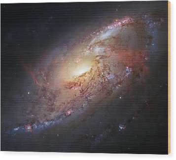 Hubble View Of M 106 Wood Print