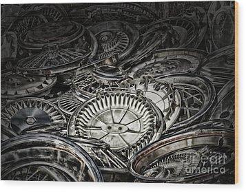 Hubcaps Wood Print