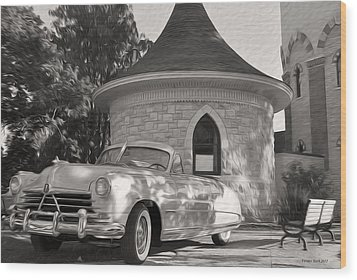 Wood Print featuring the photograph Hudson Commodore Convertible by Verana Stark