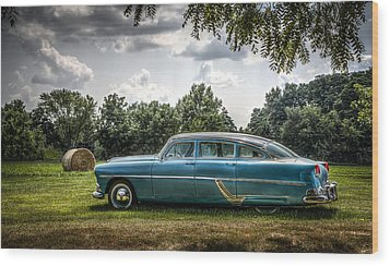 Hudson Hornet Wood Print by Ray Congrove