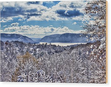Hudson Valley First Snow Mystic Colors Wood Print