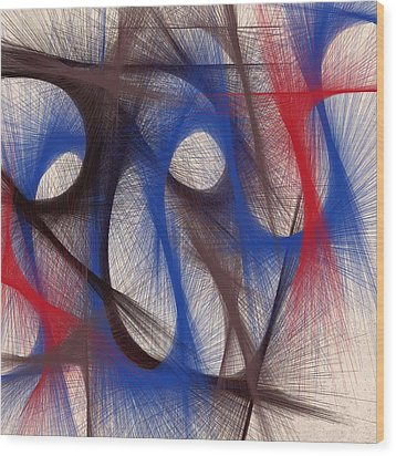 Hues Of Blue Wood Print by Marian Palucci-Lonzetta