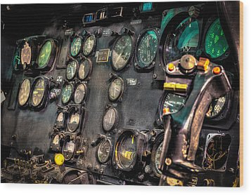 Huey Instrument Panel Wood Print