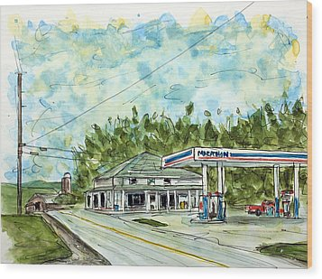 Huff's Market Wood Print by Tim Ross