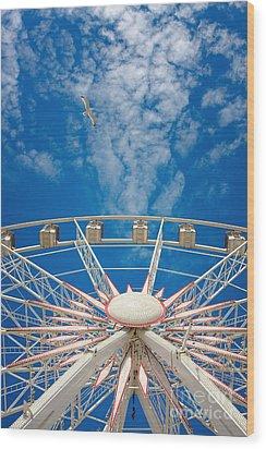 Huge Ferris Wheel Wood Print