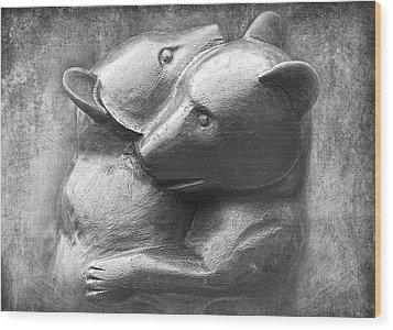 Huggy Bears Wood Print by David Davies