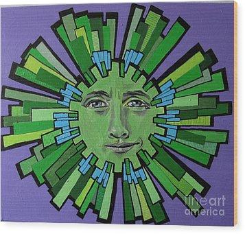 Hugh Grant - Sun Wood Print