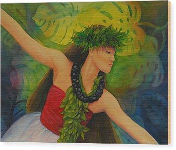 Hulakahiko Wood Print by Luane Penarosa