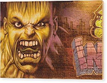 Hulk Graffiti In The Bronx New York City Wood Print by Sabine Jacobs