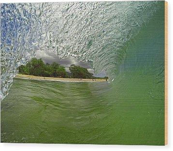 Hulk Wave Wood Print by Brad Scott