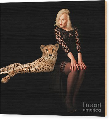 Wood Print featuring the photograph Human And Animal by Christine Sponchia