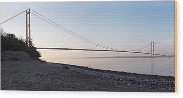 Humber Bridge Panorama Wood Print