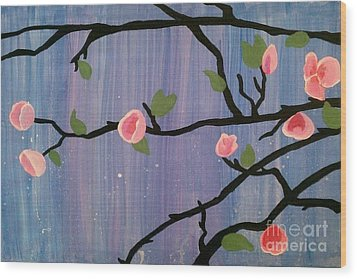 Wood Print featuring the painting Humble Splash by Marisela Mungia