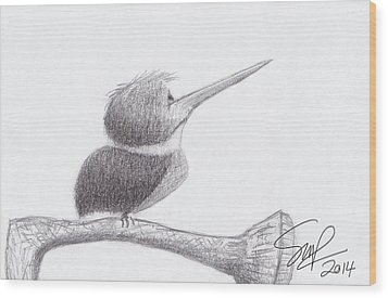 Hummingbird Bulldog Wood Print