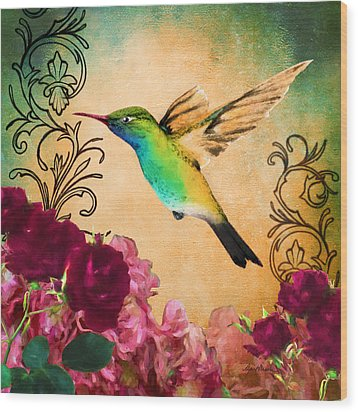 Hummingbird I Wood Print
