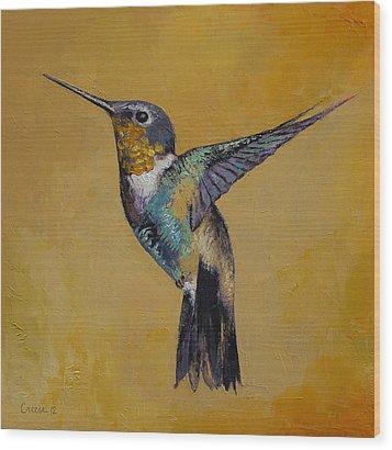 Hummingbird Wood Print by Michael Creese