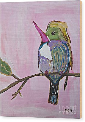Hummingbird No. 1 Wood Print