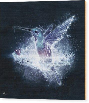 Hummingbird Print Wood Print by Cameron Gray