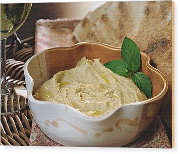 Hummus Wood Print