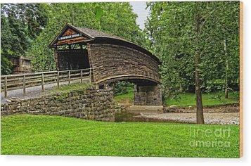 Humpback Bridge Wood Print by Brenda Bostic