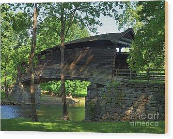 Humpback Covered Bridge 2 Wood Print by Mel Steinhauer