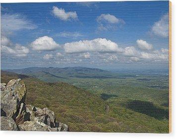 Humpback Rocks View South Wood Print