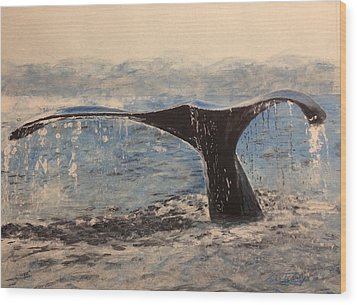 Wood Print featuring the painting Humpback by Stan Tenney