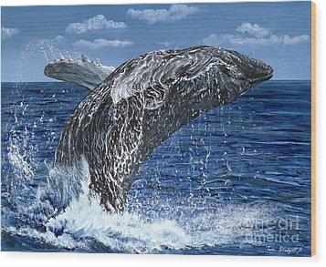 Humpback Whale Wood Print by Tom Blodgett Jr