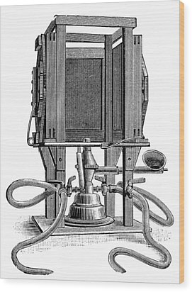 Humphery Gas Lamp, 1893 Wood Print by Science Photo Library