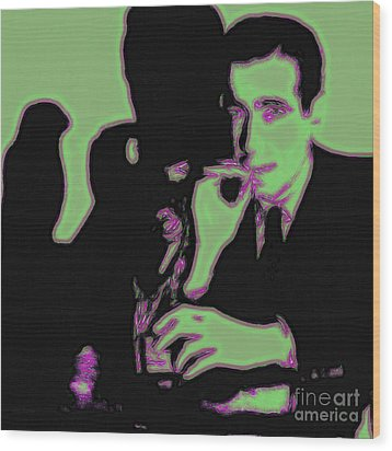 Humphrey Bogart And The Maltese Falcon 20130323 Square Wood Print by Wingsdomain Art and Photography
