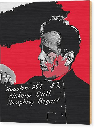 Humphrey Bogart The Maltese Falcon Makeup Photo Wood Print by David Lee Guss