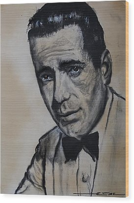 Wood Print featuring the drawing Humphrey Deforest Bogart -1  by Eric Dee