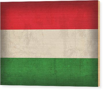 Hungary Flag Vintage Distressed Finish Wood Print by Design Turnpike