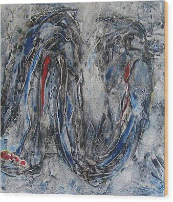 Hunger I Wood Print by Sandra Gail Teichmann-Hillesheim