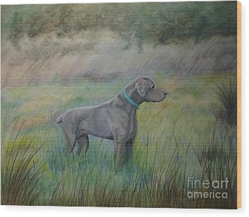 Wood Print featuring the painting Hunter by Laurianna Taylor