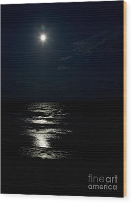 Hunter's Moon II Wood Print by Michelle Wiarda
