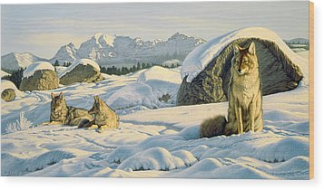 Hunter's Rest Wood Print by Paul Krapf