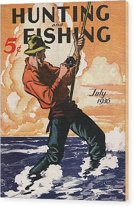 Hunting And Fishing Wood Print by Gary Grayson