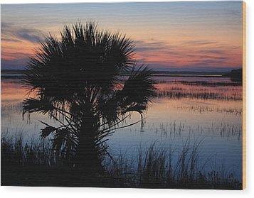 Hunting Isalnd Tidal Marsh Wood Print by Michael Weeks