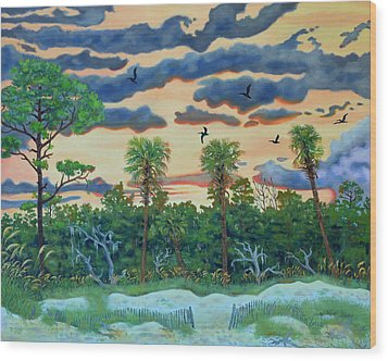 Hunting Island - 2 Wood Print