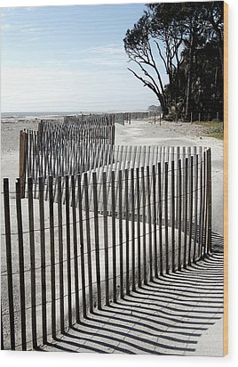 Wood Print featuring the photograph Hunting Island - 6 by Ellen Tully