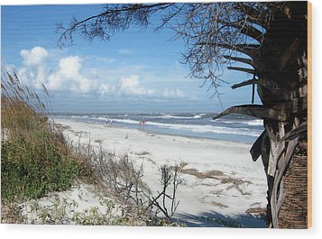 Wood Print featuring the photograph Hunting Island -8 by Ellen Tully