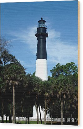 Wood Print featuring the photograph Hunting Island Lighthouse by Ellen Tully