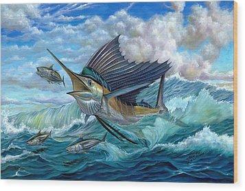 Hunting Sail Wood Print