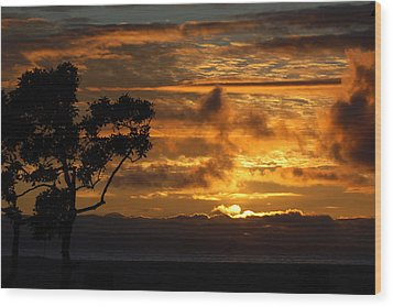 Wood Print featuring the photograph Huntington Beach Sunset by Matt Harang