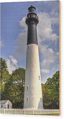 Wood Print featuring the photograph Huntington Island Lighthouse by Deborah Klubertanz