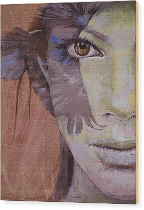 Huntress Wood Print by Michael Creese