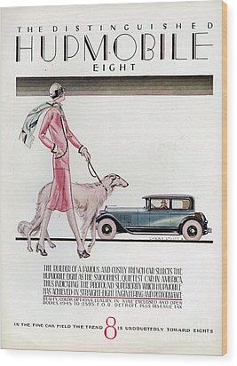 Hupmobile  1926 1920s Usa Cc Cars Dogs Wood Print by The Advertising Archives